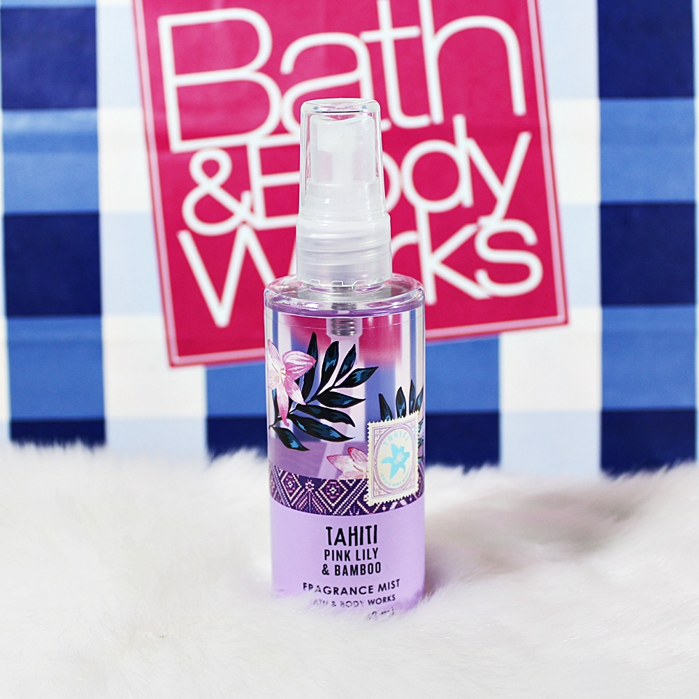 Bath & Body Works Tahiti Pink Lily Bamboo Travel Body Mist