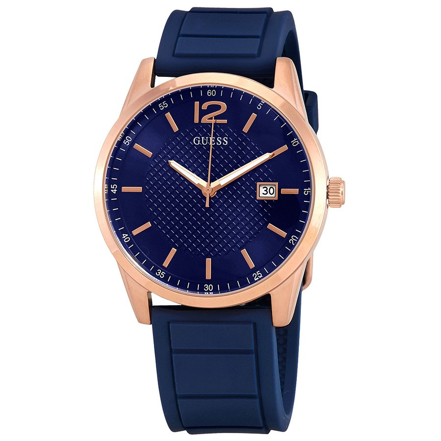 Guess W0991G4 Perry Analog Men Blue/Rose Gold Watch