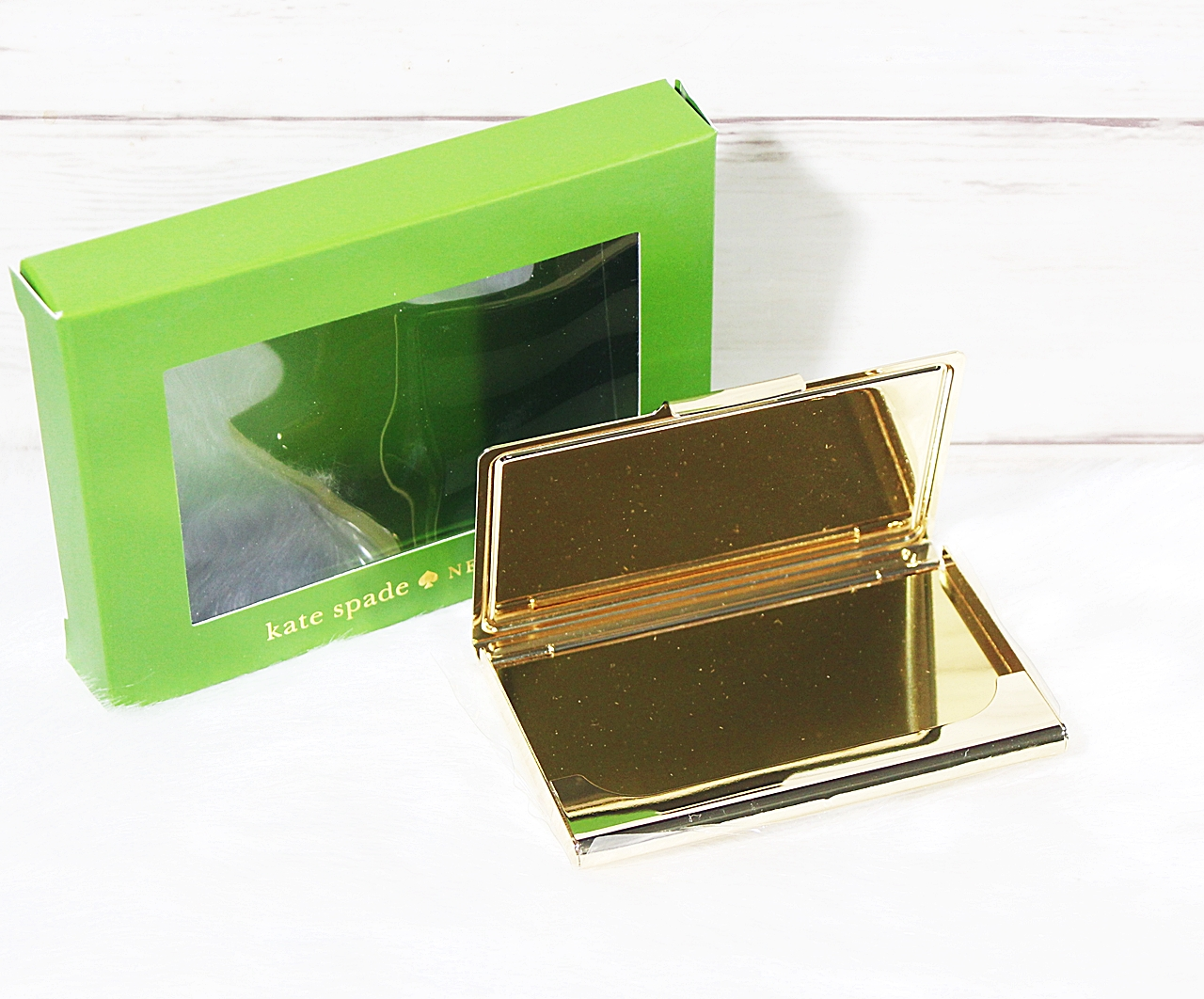 Kate Spade Down To Business Card Holder Stripe S
