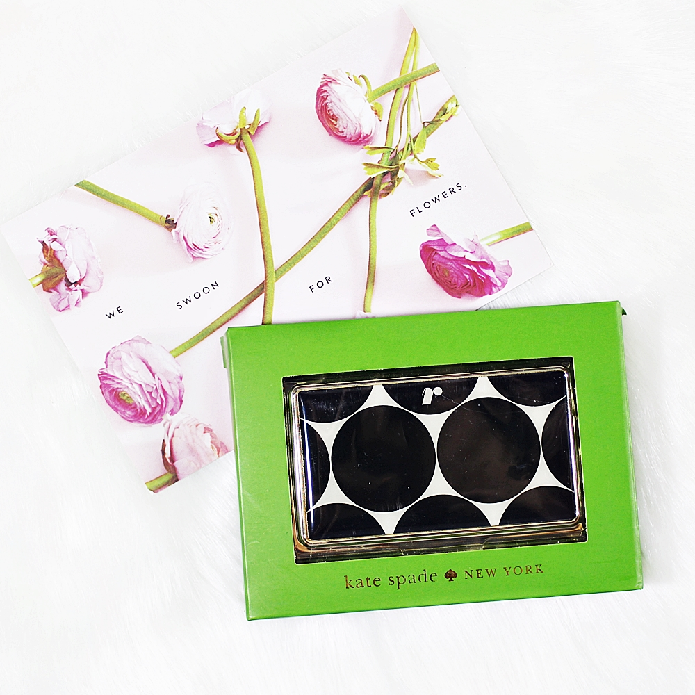 Kate Spade Down To Business Card Holder Round R