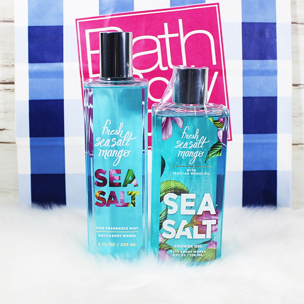 Bath & Body Works Fresh Seasalt Mango 2pc Set Fragrance Mist Shower Gel