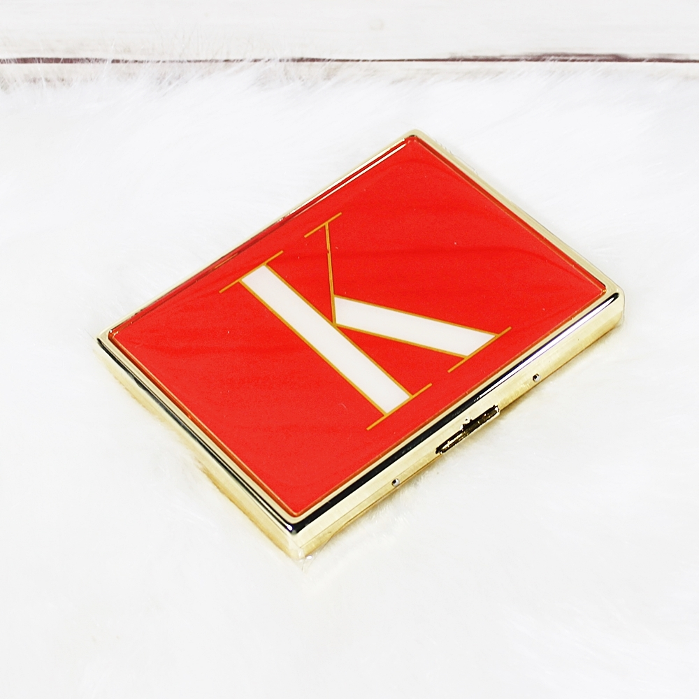 Kate Spade Initial Red K It's Personal ID Holder Business Card Case