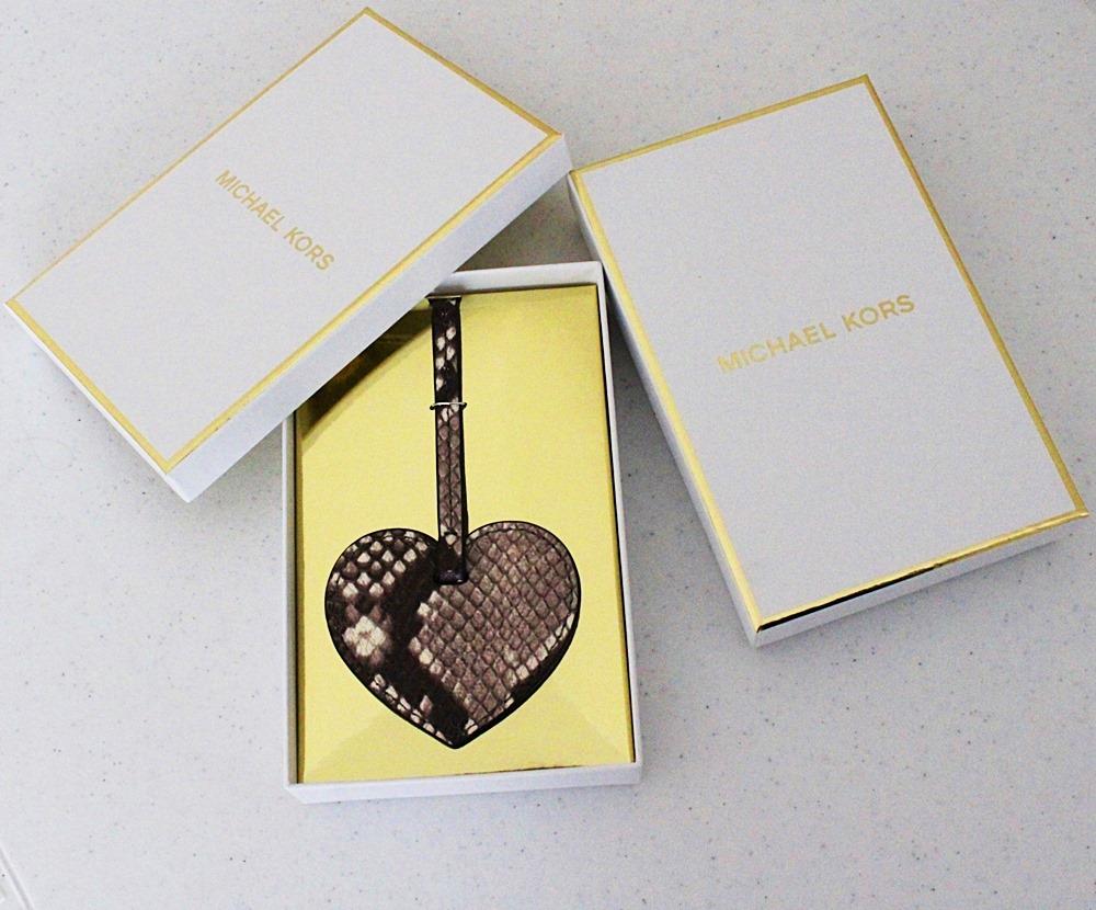 Michael Kors Heart Bag Charm Natural Brown