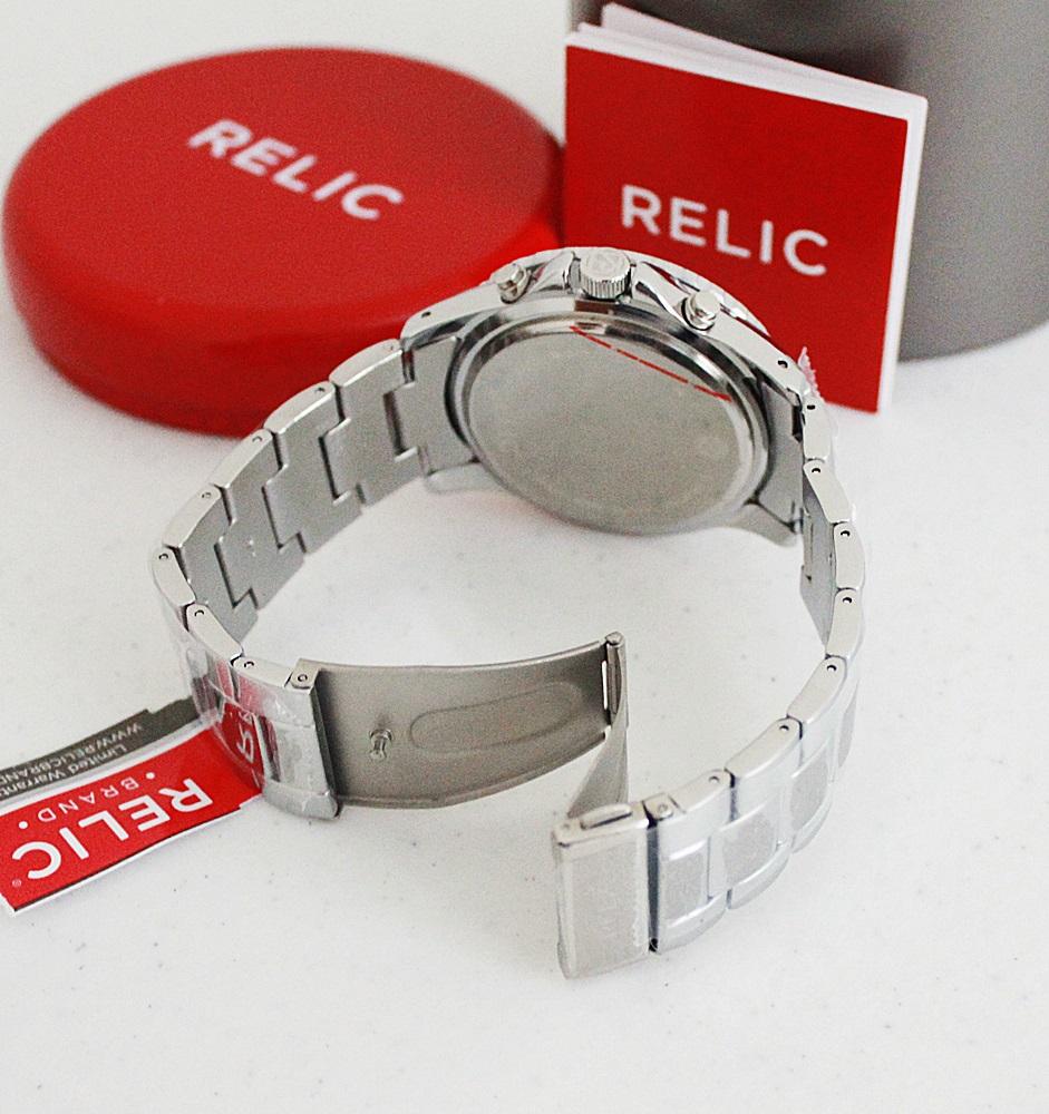Relic ZR15771 Jaxton Black Dial Silver Watch