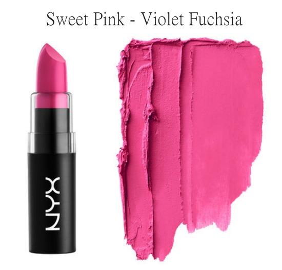 NYX Matte Lipstick Sweet Pink