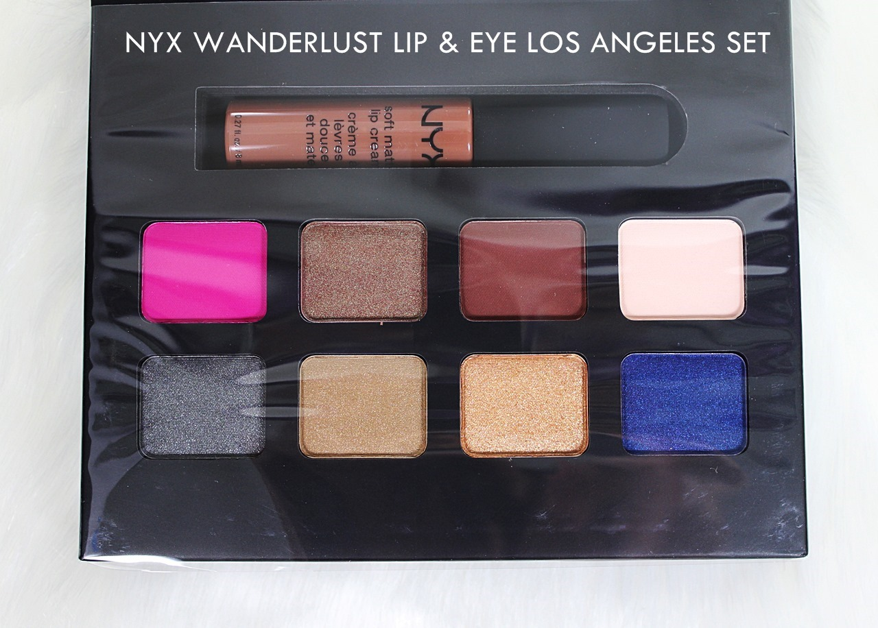 NYX Wanderlust Lip & Eye Collection Los Angeles