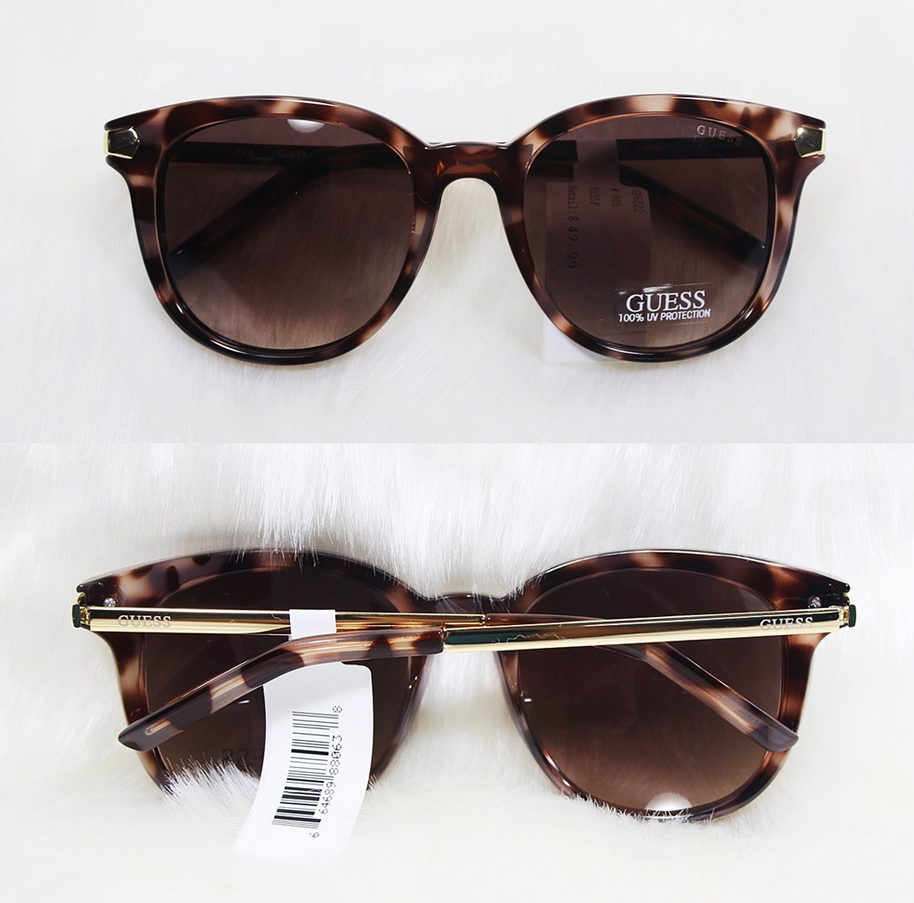 Guess Cat Eye Tortoise Brown Ladies Sunglasses