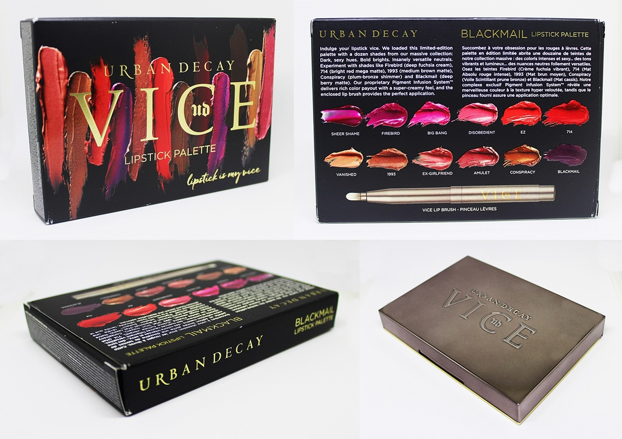 Urban Decay Vice Blackmail Lipstick Palette