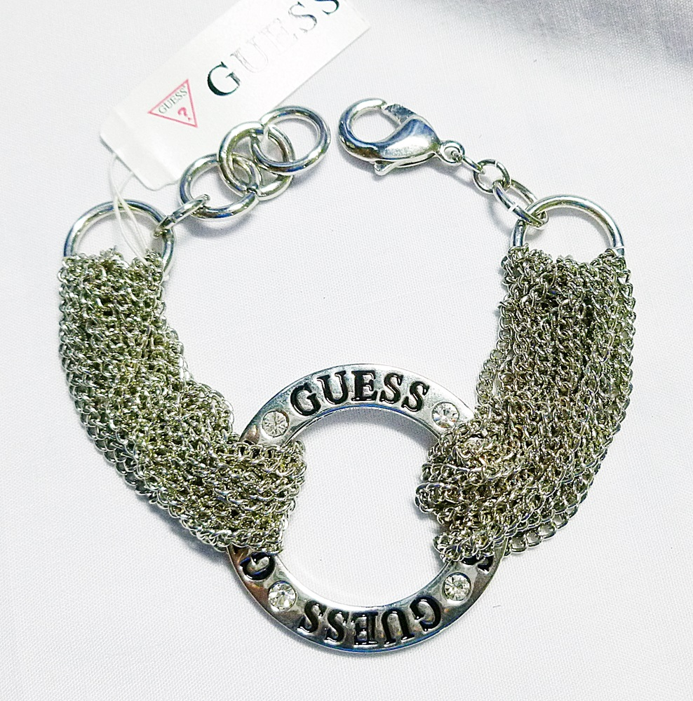 Guess Multi Strands Ring Bracelet Silver