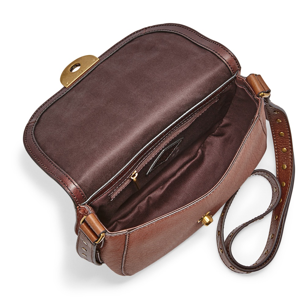 Fossil Emi Saddle Crossbody Multi Brown