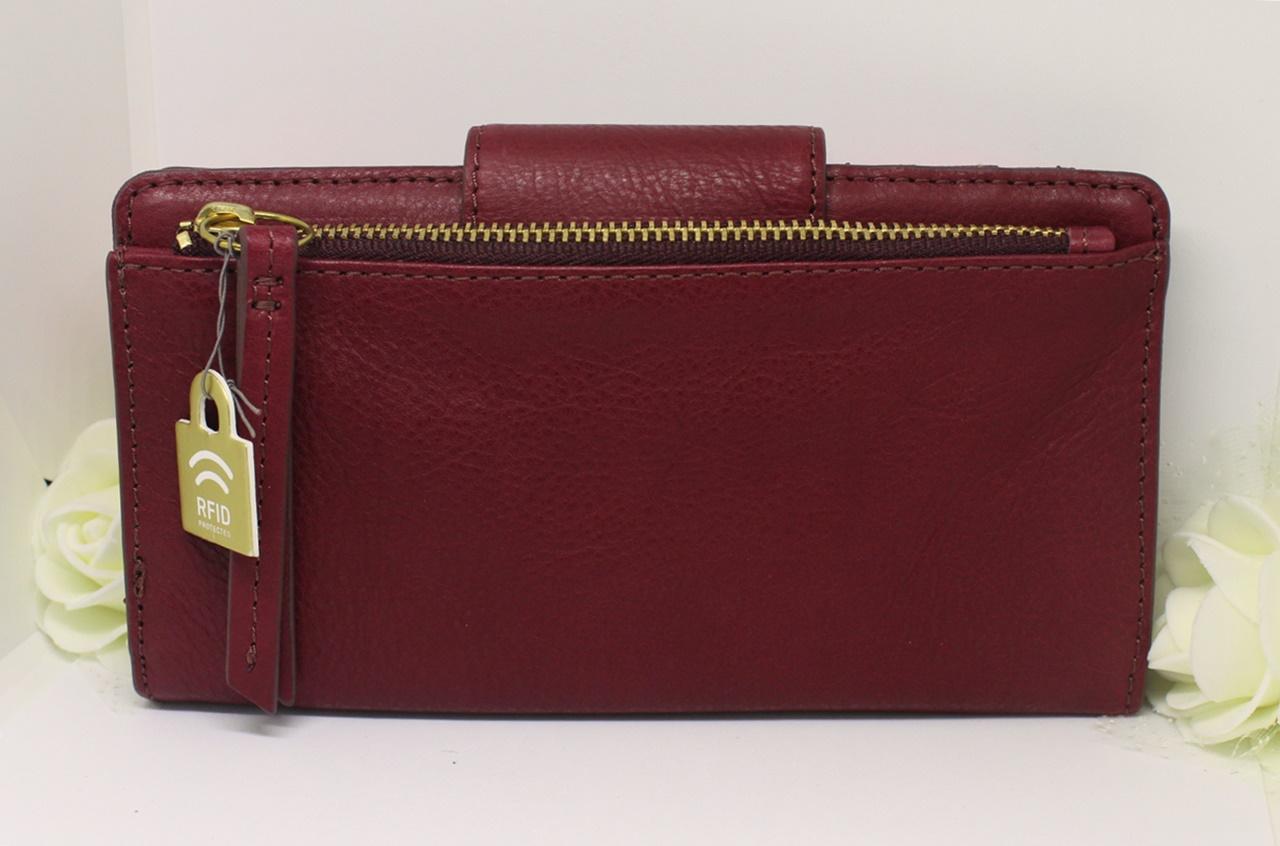 Fossil Emma RFID Tab Women Wallet Multicolor