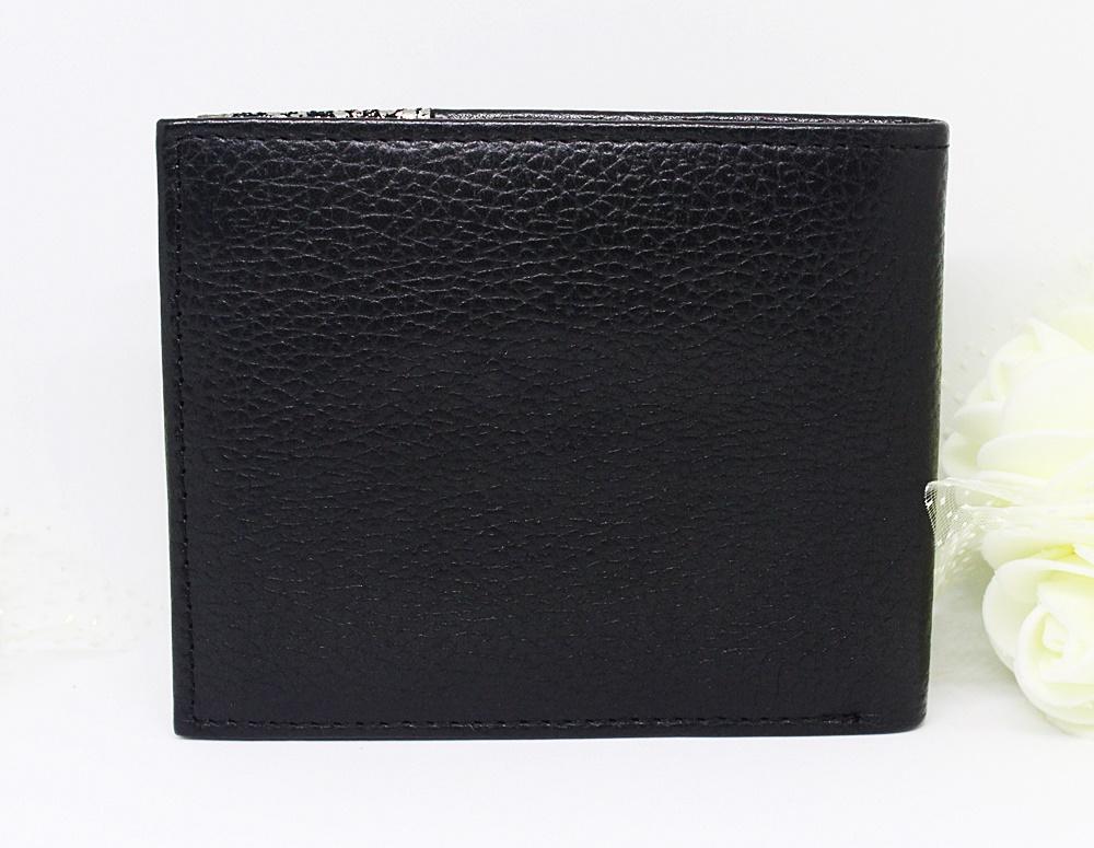 Guess Tyson Double Billfold Men Wallet Black/Silver