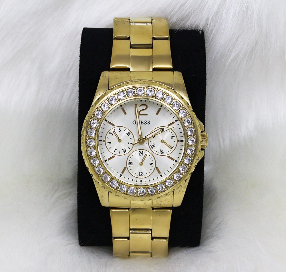 Guess U12005L1 Multifunction Crystal Gold Watch