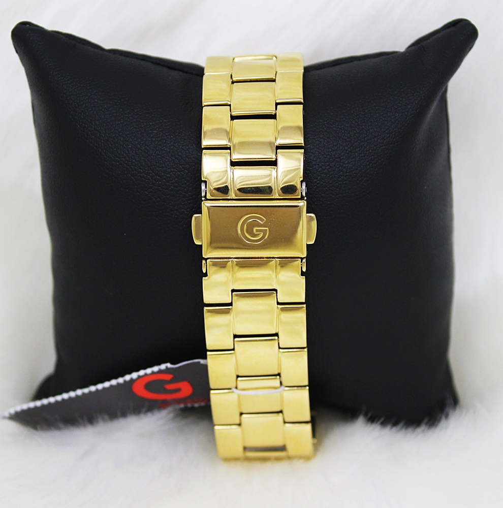 Guess G94081L1 Sparkling Pink Dial Gold Watch