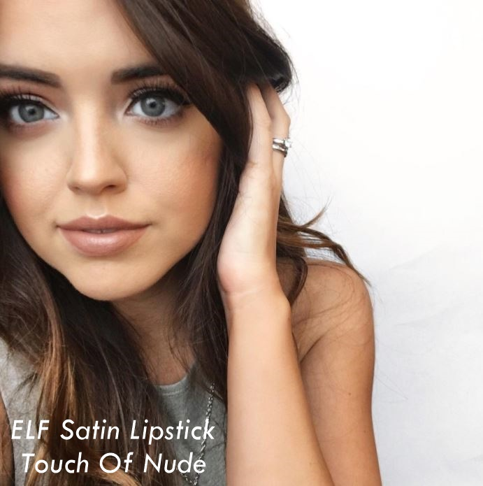 ELF Beautifully Bare Satin Lipstick Touch of Nude