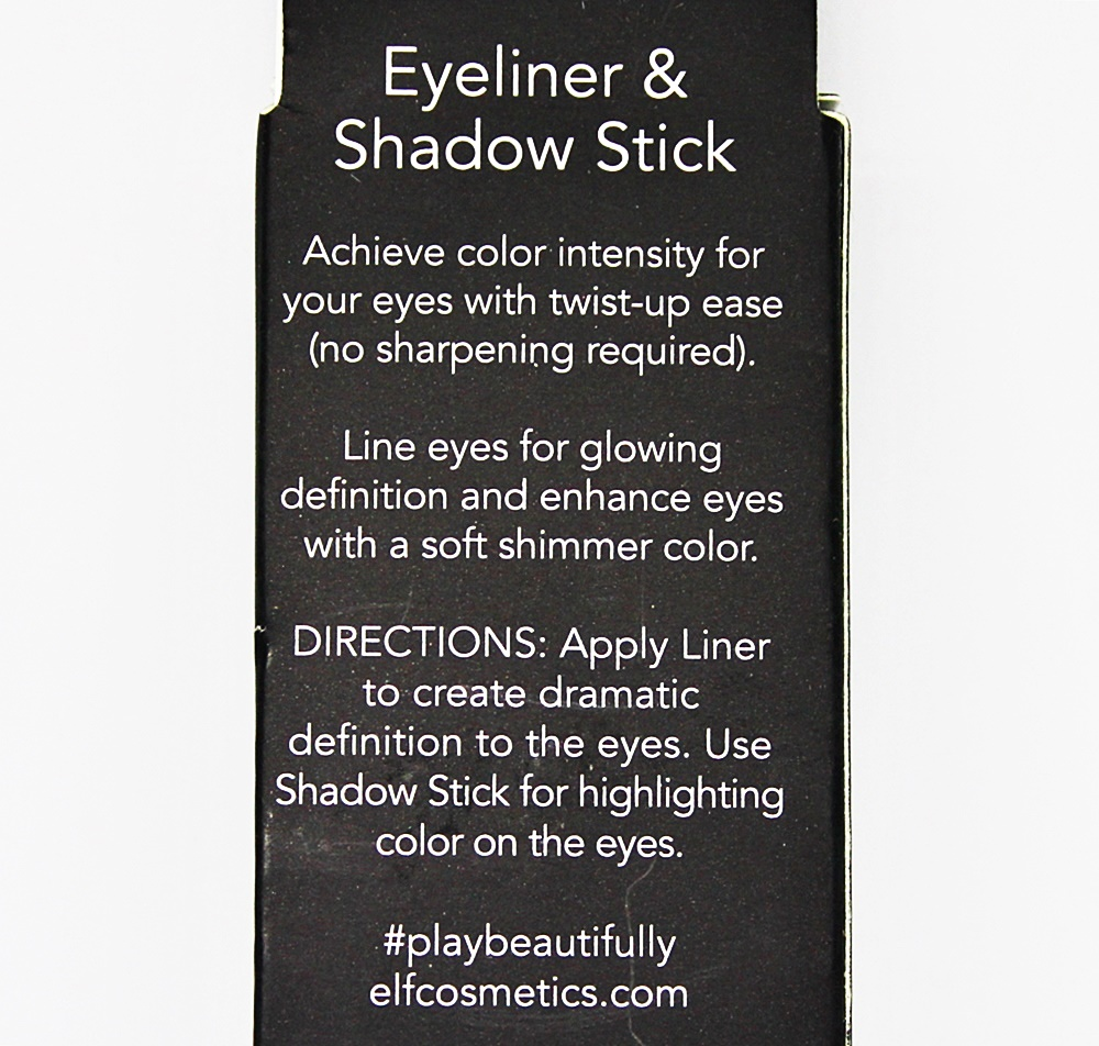 ELF Eyeliner & Shadow Stick Black/Smoke