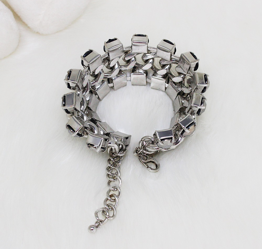 H&M Large Chained Gunmetal Bracelet