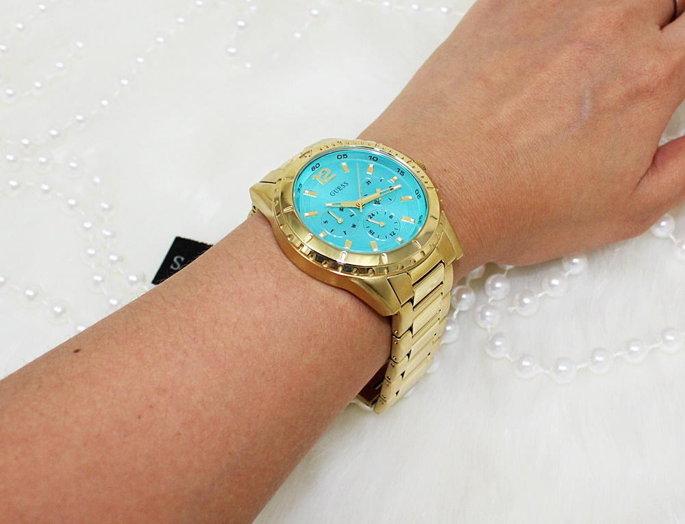 Guess U0590L2 Multifunction Watch Gold/Turquoise