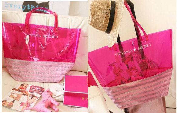 Victoria's Secret Beach Jelly Pink Tote