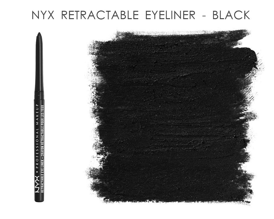 NYX Retractable Eye Liner Eye Pencil Black