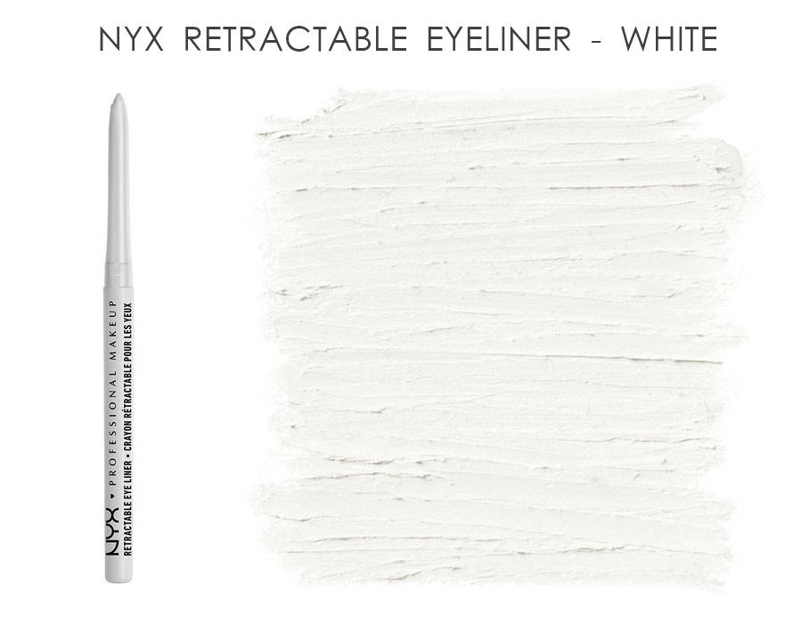 NYX Retractable Eye Liner Eye Pencil White