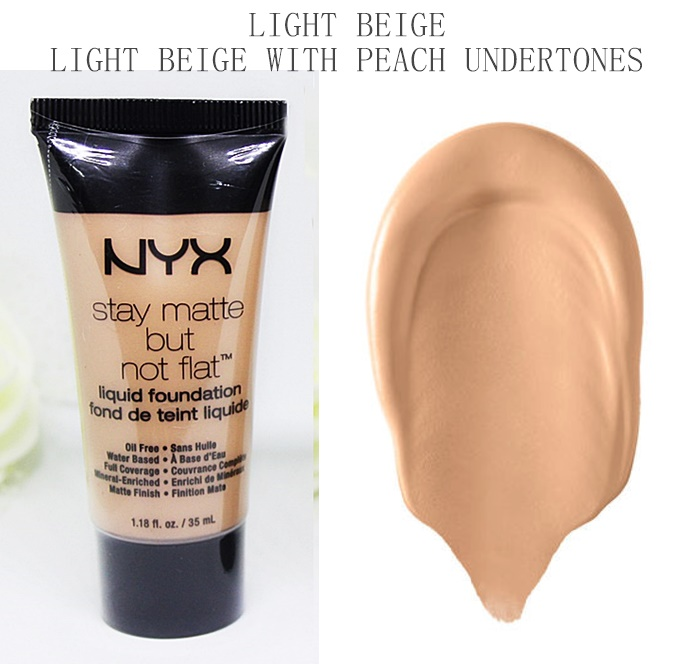 NYX Light Beige Stay Matte But Not Flat Liquid Foundation