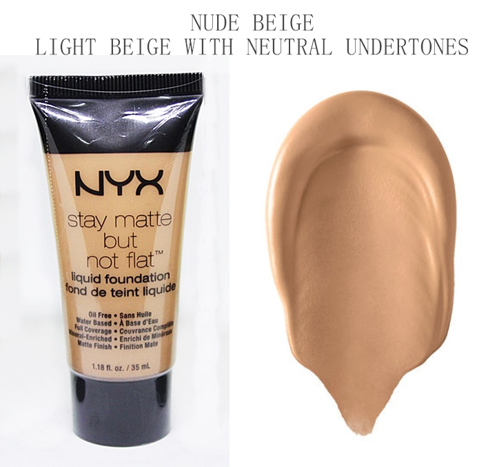 NYX Nude Beige Stay Matte But Not Flat Liquid Foundation