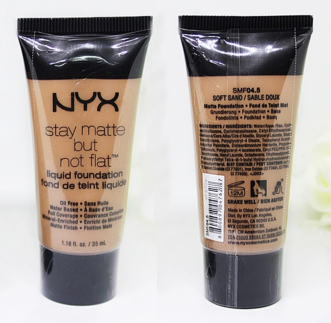 NYX Soft Sand Stay Matte But Not Flat Liquid Foundation