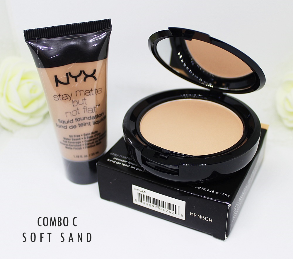 NYX Soft Sand Stay Matte But Not Flat Foundation Set 2pc