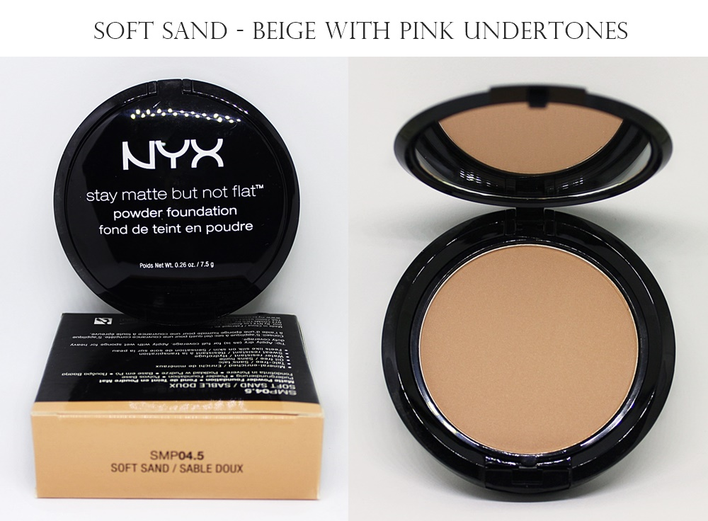 NYX Soft Sand Stay Matte But Not Flat Powder Foundation