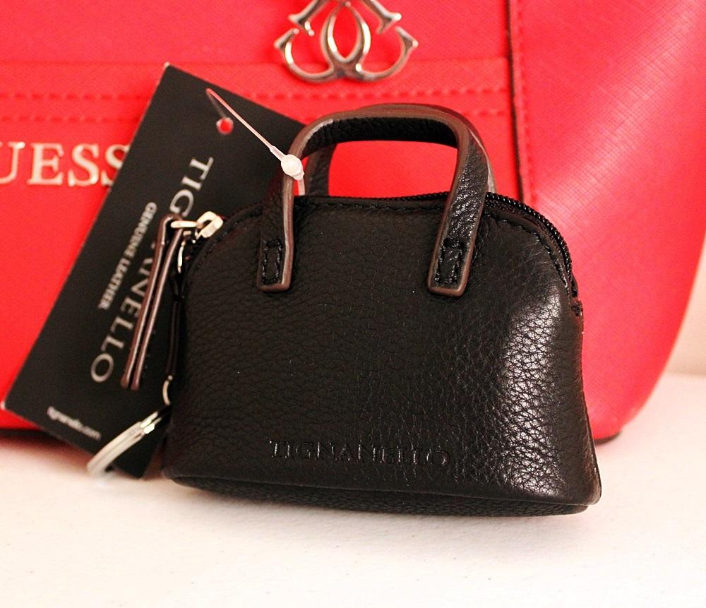 Tignanello Leather Key Fob Coin Purse Black