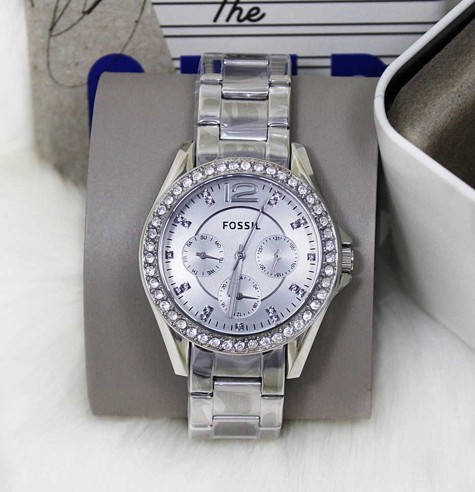 Fossil Riley Silver Dial Women Multifunction Watch Es 3889 Daftar Source Fossil ES3202 .