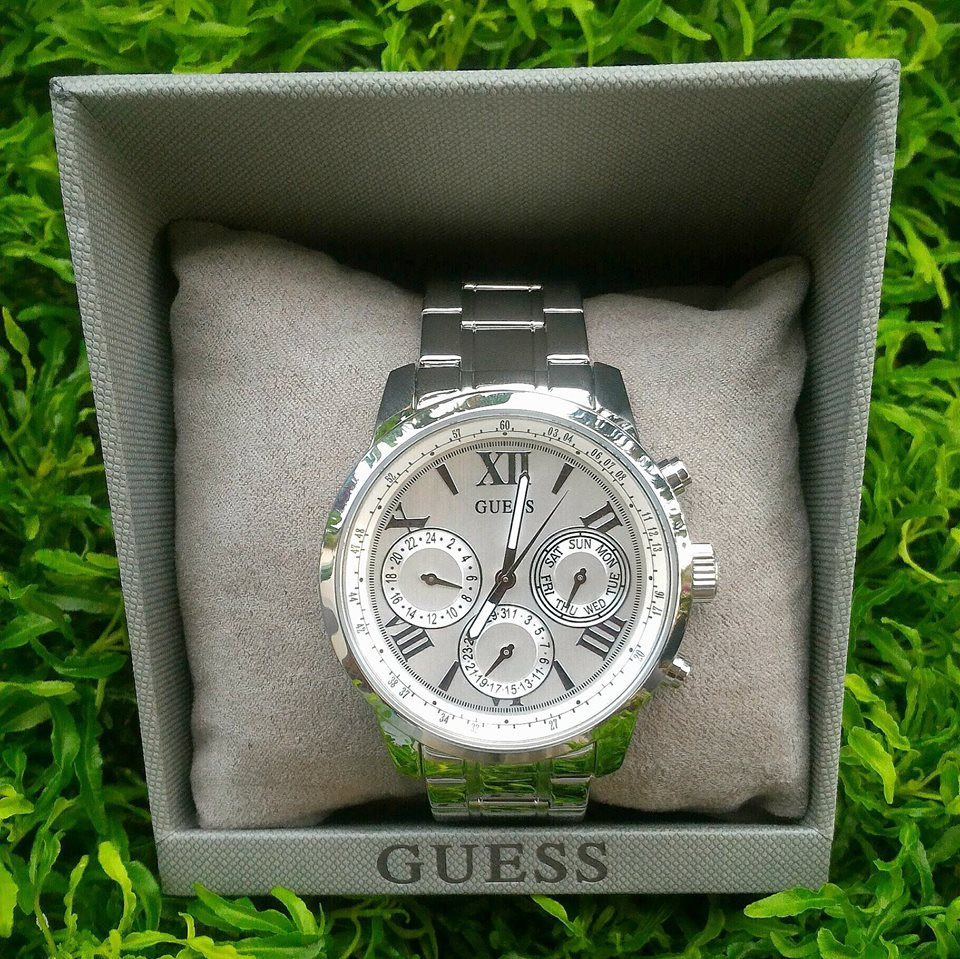 Guess U0330L3 Sporty Multifunction Women Watch Silver