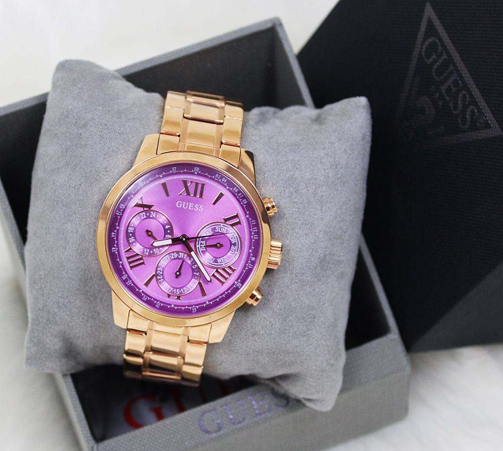 Guess U0330L8 Sporty Multifunction Women Watch Rose Gold