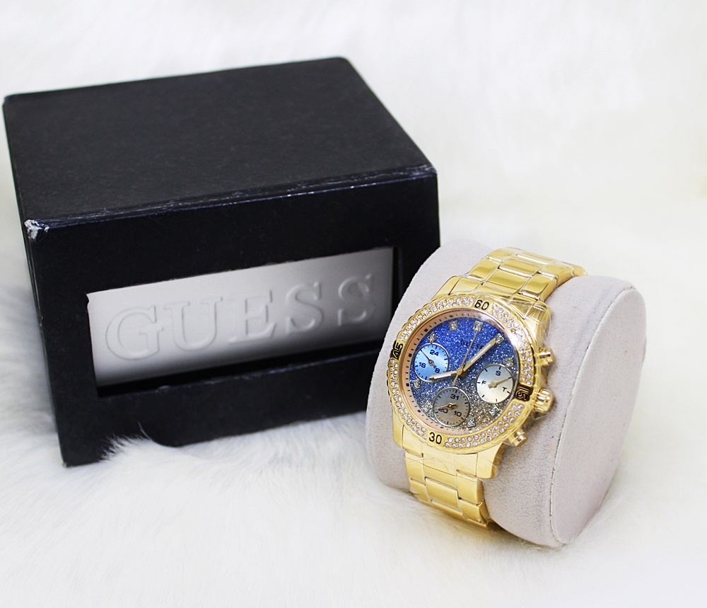 Guess W0774L2 Confetti Multifunction Ladies Watch Gold