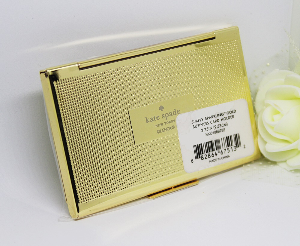 Kate Spade Business Card Holder Simply Sparkling Gold