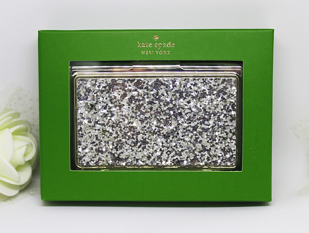 Kate Spade Simply Sparkling Card Holder Silver