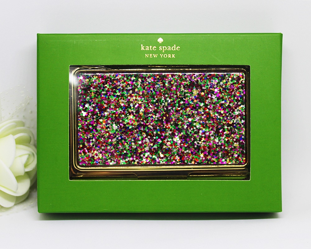 Kate Spade Simply Sparkling Business Card Holder Multicolor