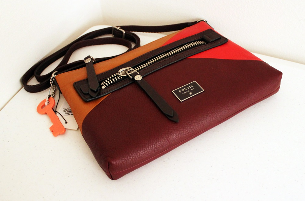 Fossil Dawson Patchwork Crossbody Red Multi