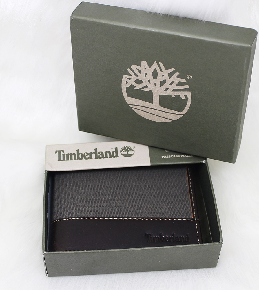 Timberland Baseline Canvas Men Wallet Coffee/Charcoal