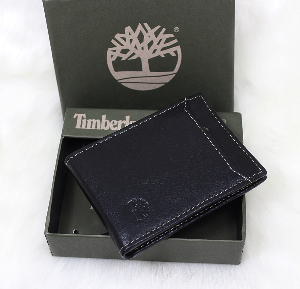 Timberland Blix Flip Money Clip Wallet Black