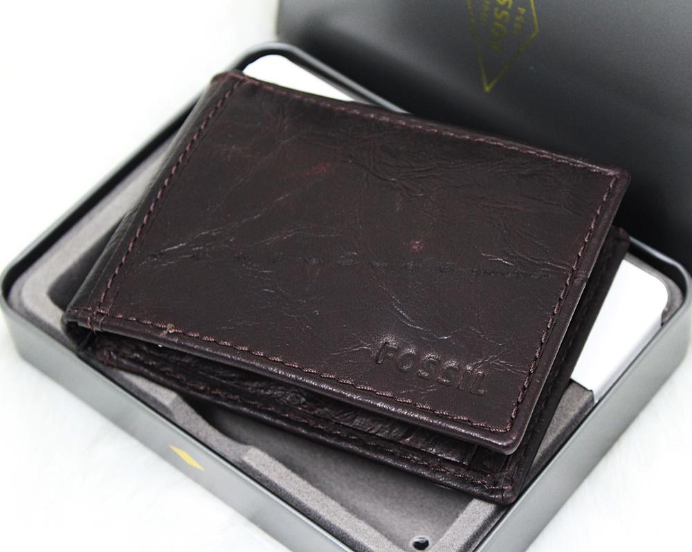 Fossil Ingram Bifold Money Clip Wallet Brown